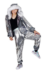 LAST ONE! Size (L) - Sparkle Superstar - Disco Lovers - Sequin Tracksuit