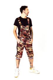 Sparkle Safari - Velvour Dungarees - Disco Tiger