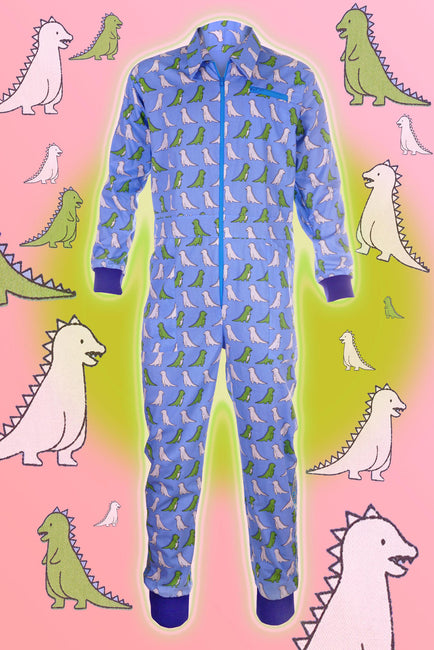 Draw me a Dino - Blue - Banging Boilersuit - Classic