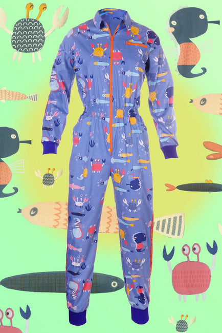 Sea Life - Banging Boilersuit - Cinched