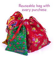 Free reusable fabric bag, selection of colours by State of Disarray