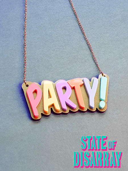 PARTY! - Statement Acrylic Necklace