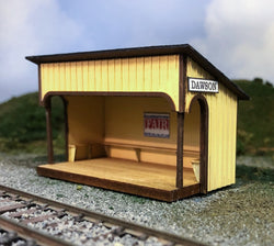 HO Scale Waiting / Freight shed as found at Dawson, Wilsonia and Whyte