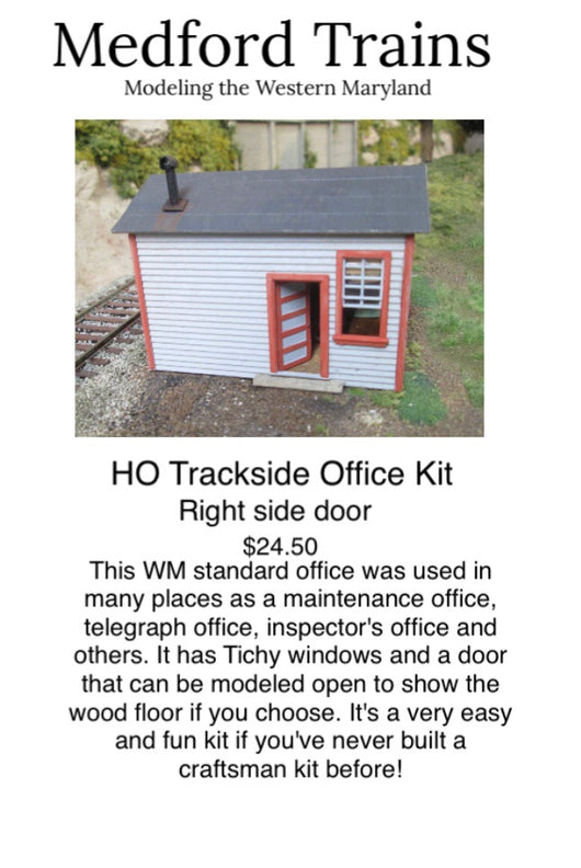 HO Telegraph/ trackside office with right side door