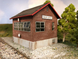 HO Scale Train Order Office at Emory Grove