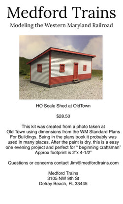 HO Shed At OldTown