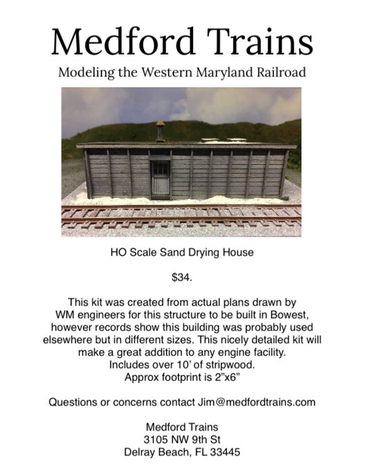 HO Sand Drying House Kit