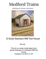 O Scale WM Standard Tool House