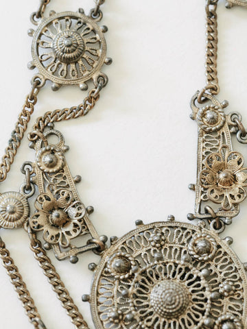 1940's Filagree Bohemian Necklace