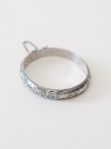 Sterling Silver Etched Bangle