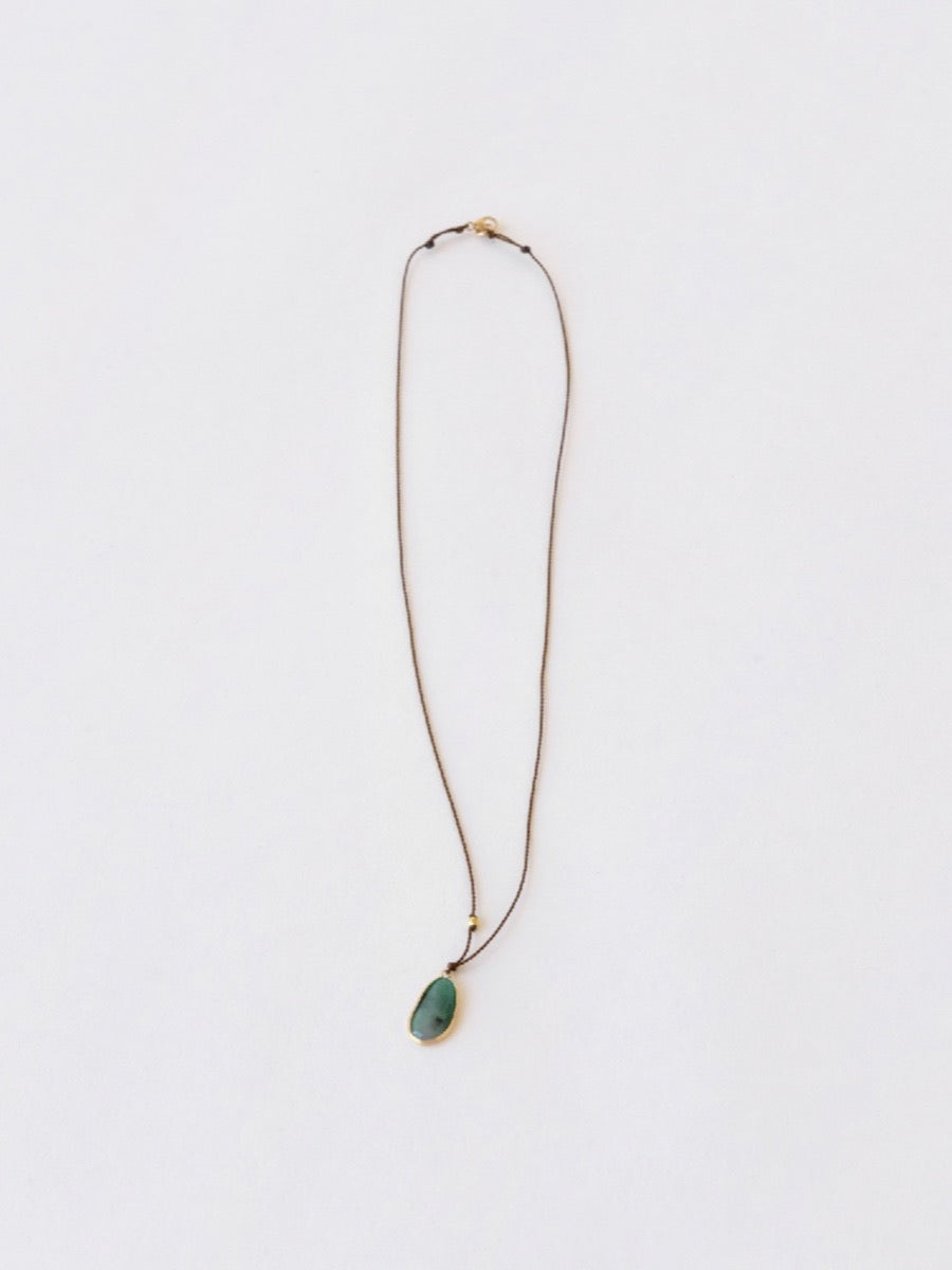 Opaque Emerald Pendant Necklace