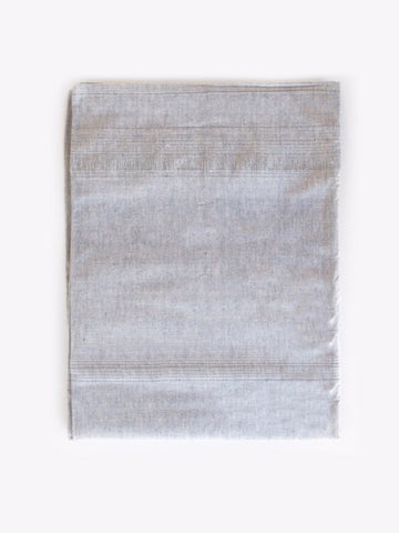 Handwoven Tablecloth in Blue Grey