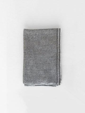 Cashmere Weave Scarf in Grey