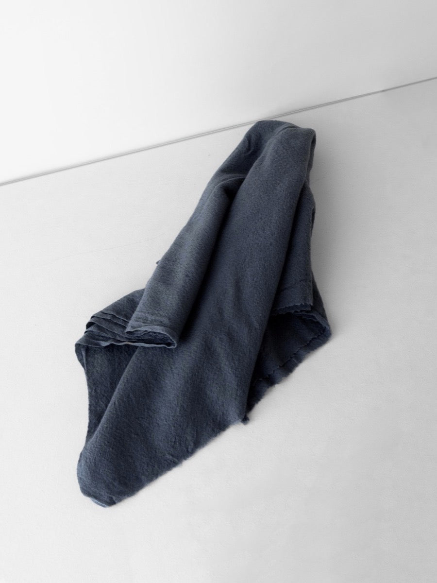 Washed Kashmiri Wool Scarf Blue Grey