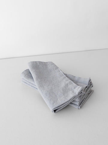 Washed Linen Napkin in Bluish Grey