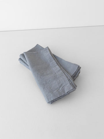 Washed Linen Napkin in Graphite