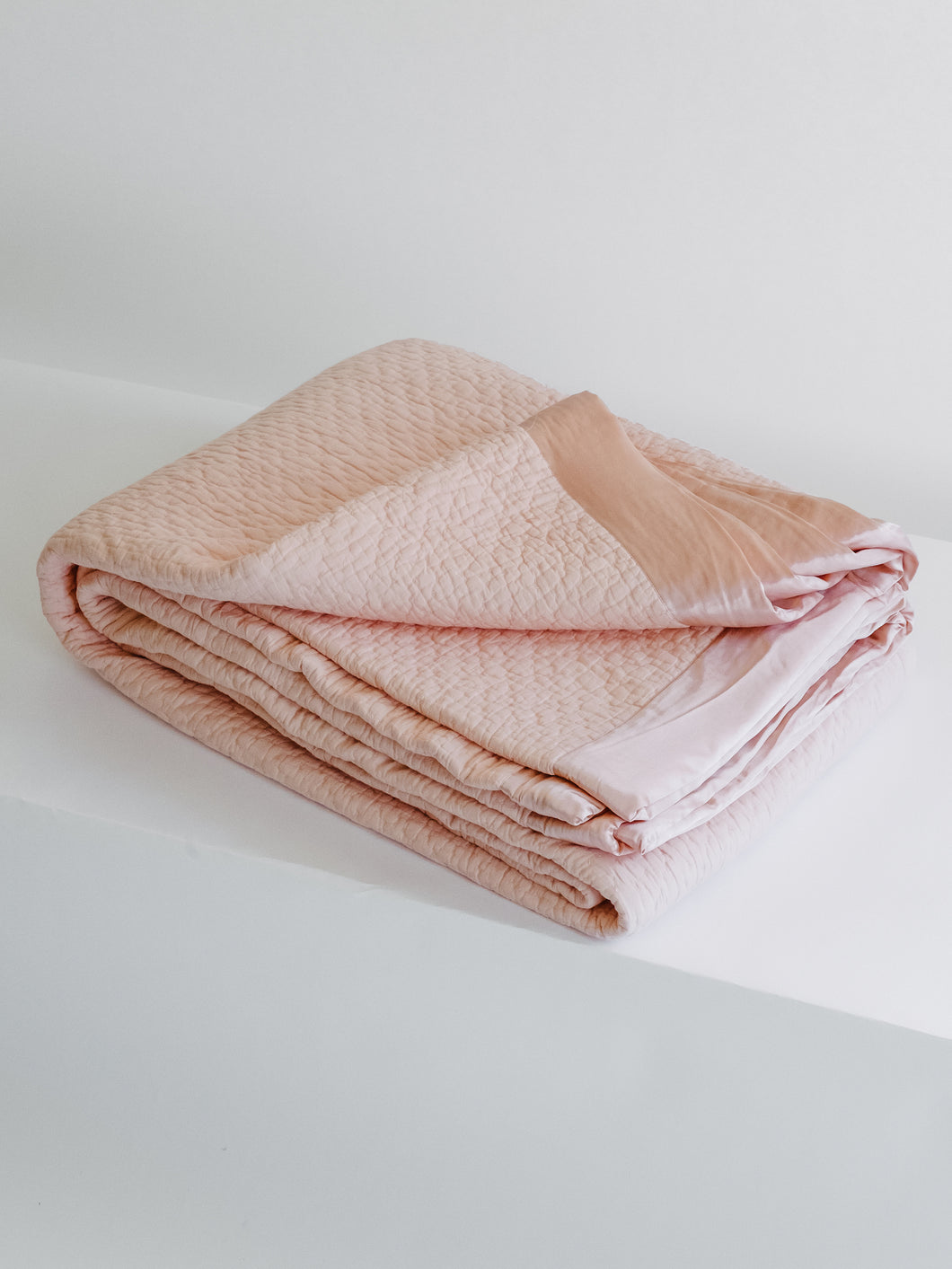 Baby Pink Cotton and Silk Quilt