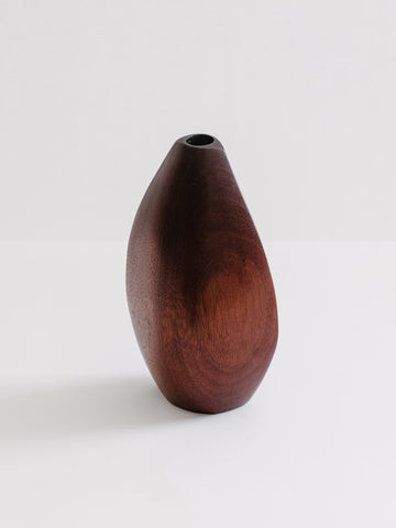Mid-Century Walnut Candle Holder