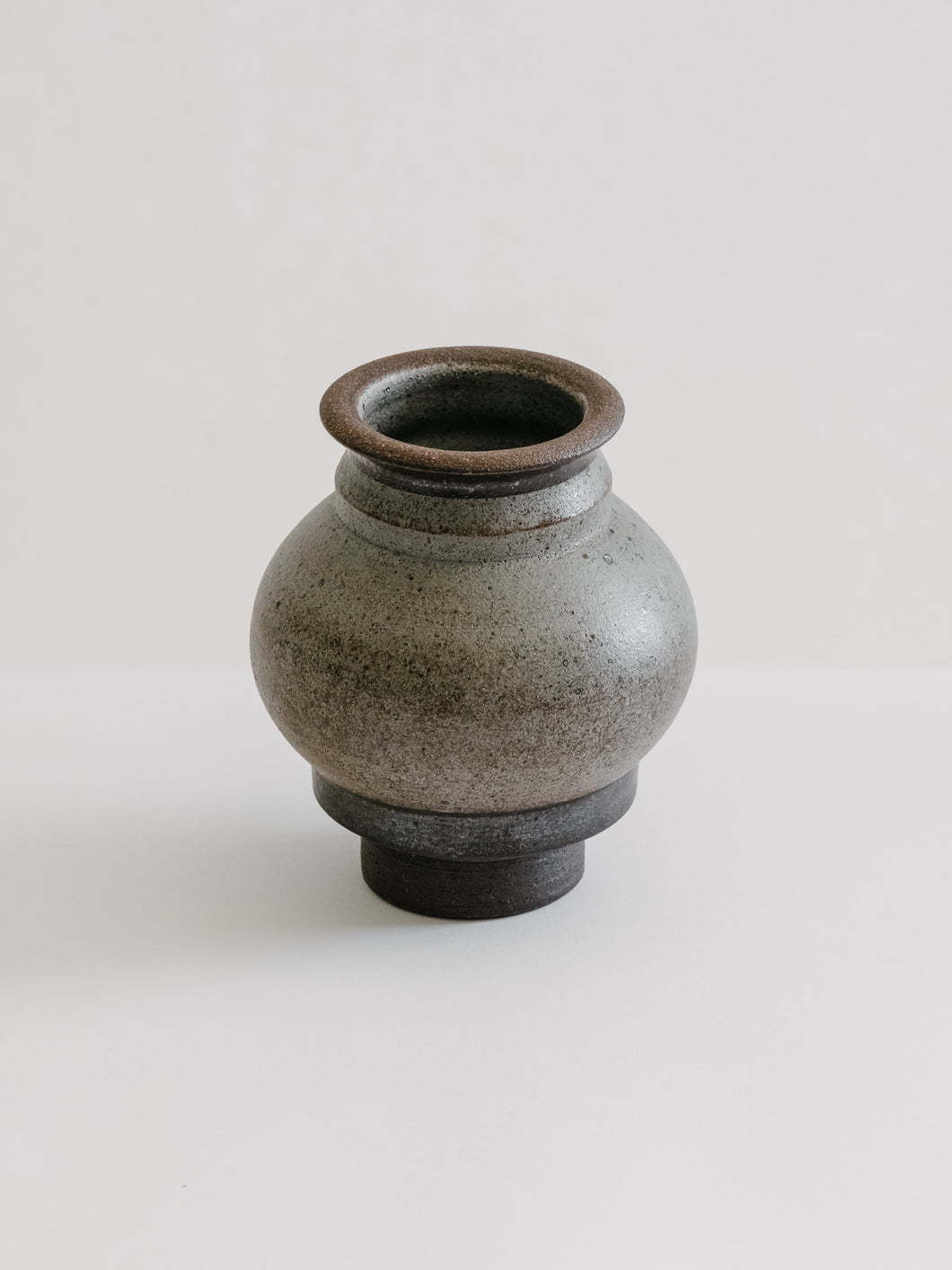 Forged Metal Glaze Ceramic Vessel
