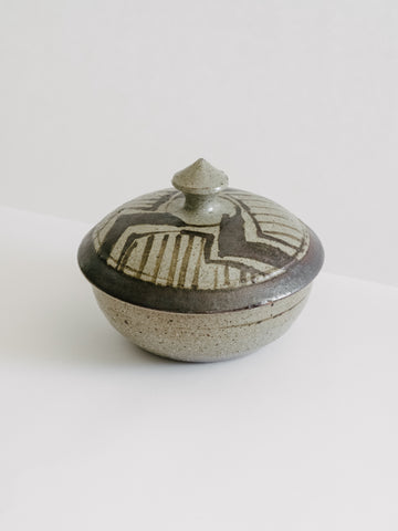 Vintage Studio Ceramic Lidded Vessel