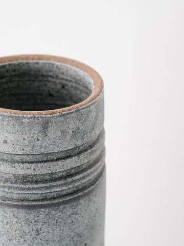 Multi-Ringed Ceramic Vase