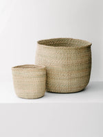 Iringa Handwoven Baskets in Natural, M