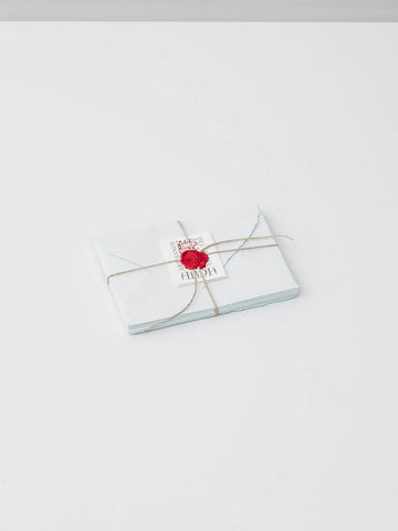 Small Stationery Set in Pale Blue