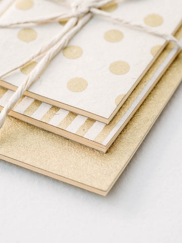 Notebook Set in Gold