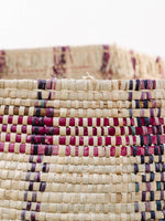 Medium Woven Basket with Purple Colors