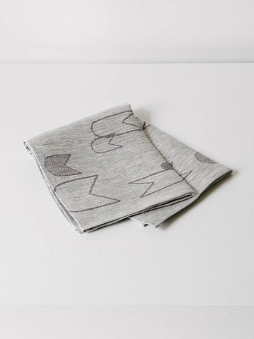 Linen Tea Towel in Grey