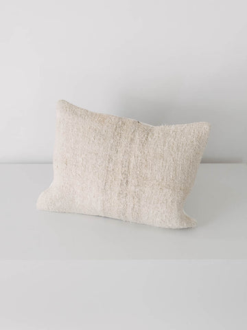 Vintage Hemp Pillow in Textured Stripe - S