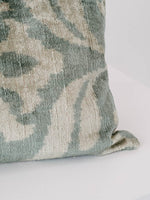 Custom Made Ikat Pillow in Aqua