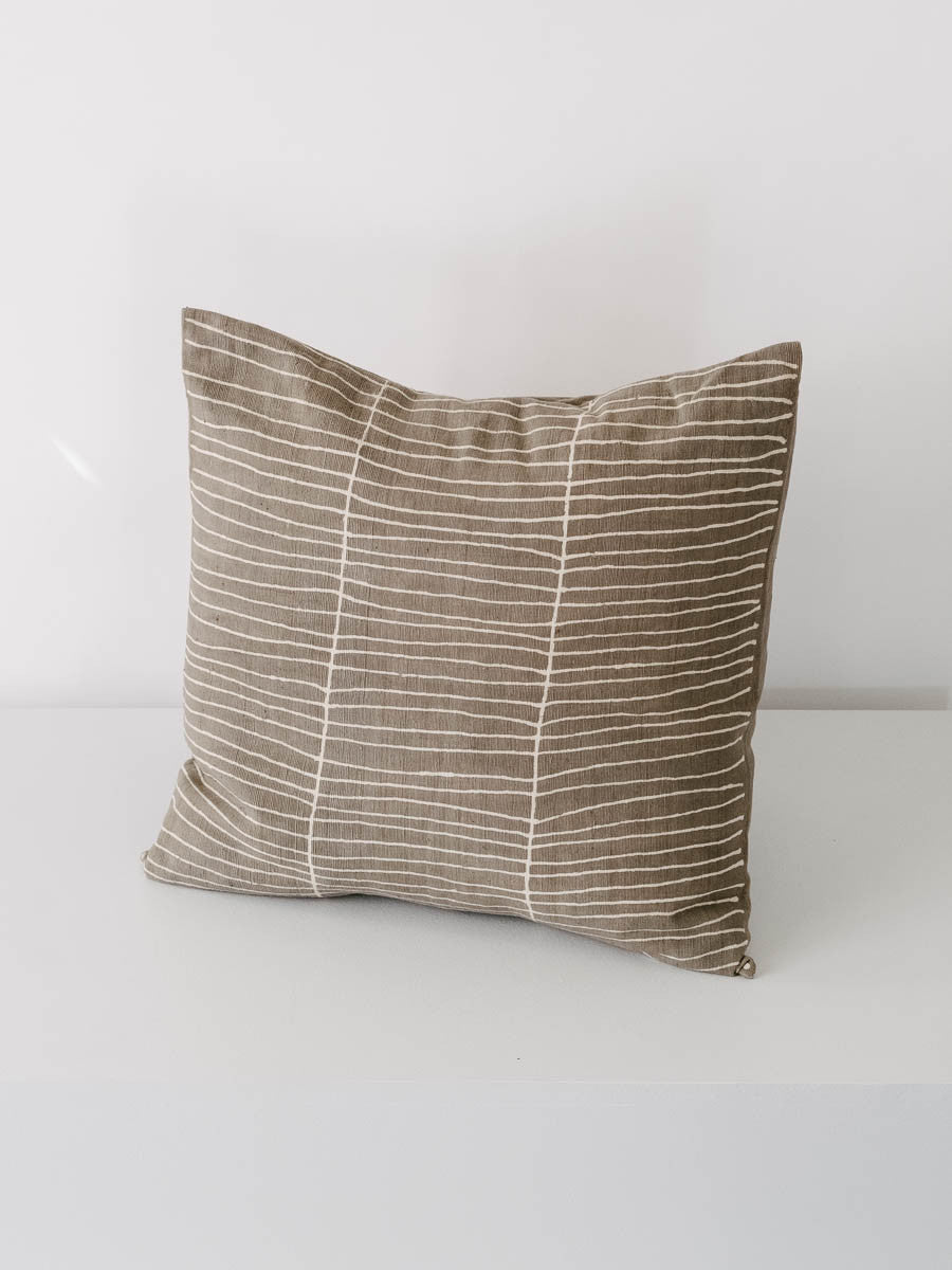 Stripe Pillow in Grey