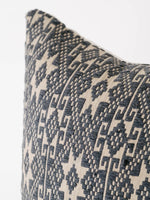 Vintage Hmong Fabric Pillow in Navy Blue