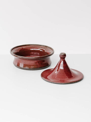 Mini Ceramic Tagine in Red Glaze