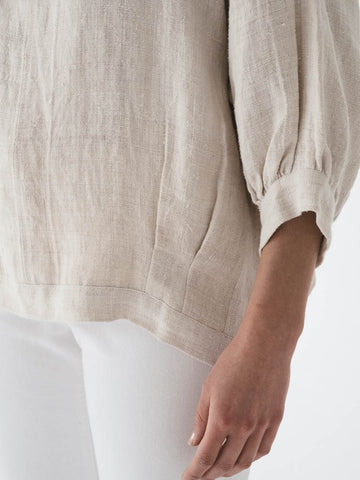 Peasant Top in Natural Hemp