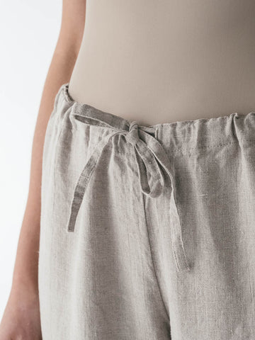Drawstring Linen Pant in Flax