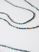 Turquoise, Lapis and Carnelian Strand Necklace