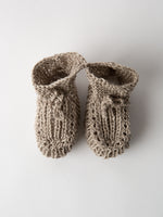 Hand Knitted Linen Baby Shoes