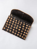Lambskin Polka Dot Purse Wallet in Black