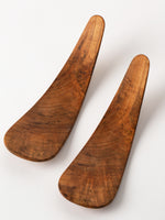Pair Cherry Burl Salad Server