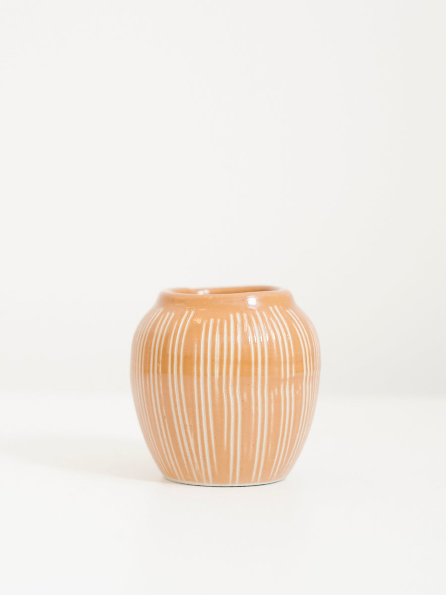 Vase with Vertical Stripes in Butternut