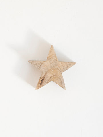 Star Shaped Mango Wood Object