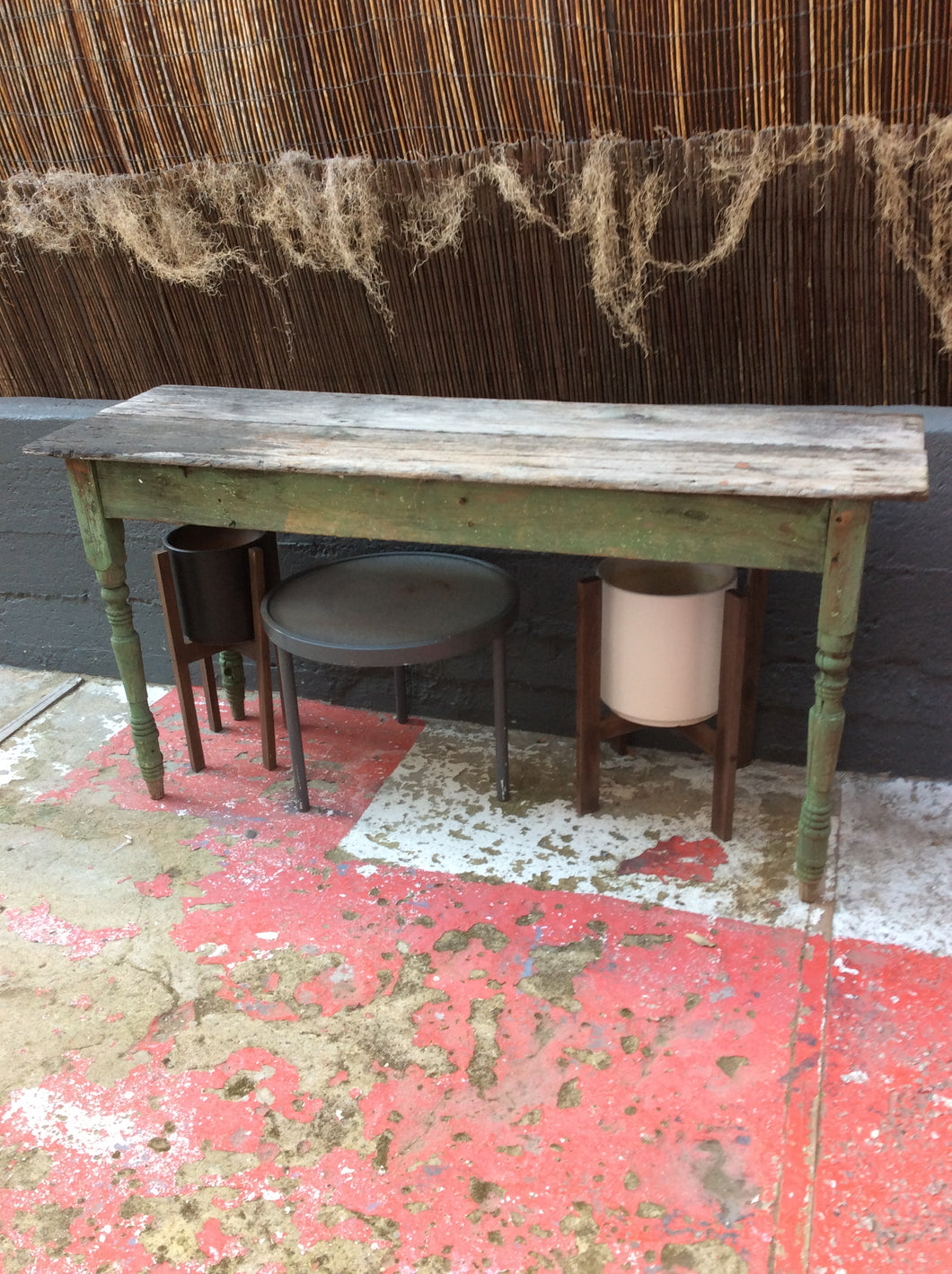 Green Wooden Console Table