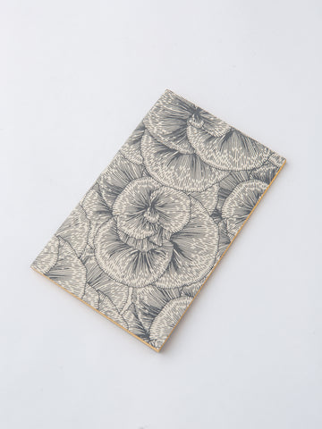 Journal in Grey and White Flower