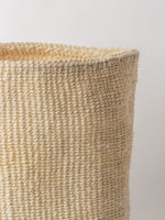 Large Sisal Cylindrical Basket in Ivory