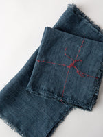 Stonewashed Linen Napkin in Denim