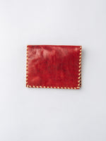 Lambskin Billfold Wallet In Red