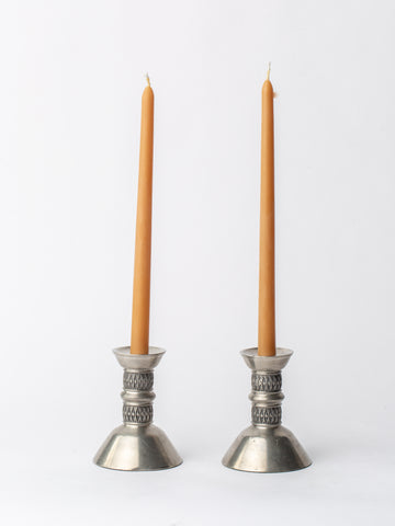 Pair of Found Scandinavian Candle Stick Holders By Mastad Norway
