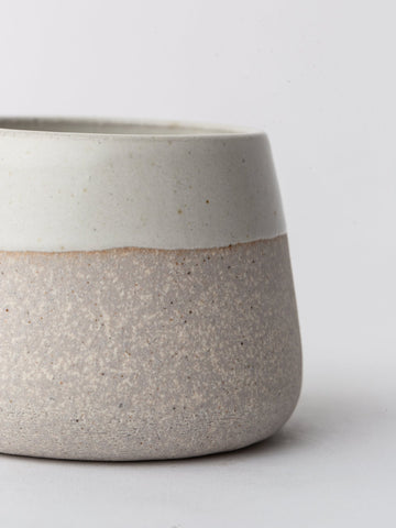 Ceramic Tea Cup in Sand and Ivory